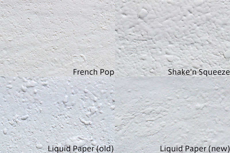 French Pop、Shake'n Squeeze、Liquid Paper 液比較